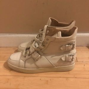 Christian louboutin strap high top sneakers , AUTH